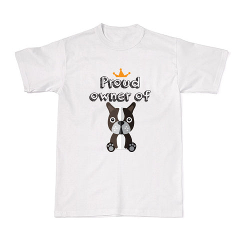Dog - Pet Owner Designer Tees -  Boston Terrier T-shirt