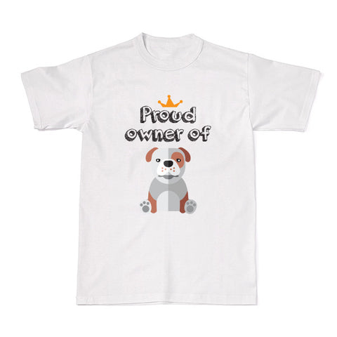 Dog - Pet Owner Designer Tees -  Bull Dog T-shirt