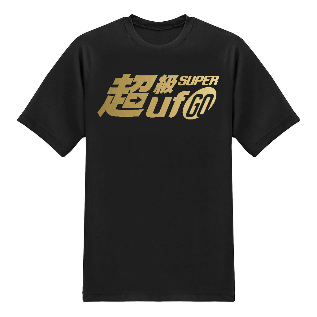 UFO Series Tees - Super UFO Go! - Chrome Gold on Black T-shirt