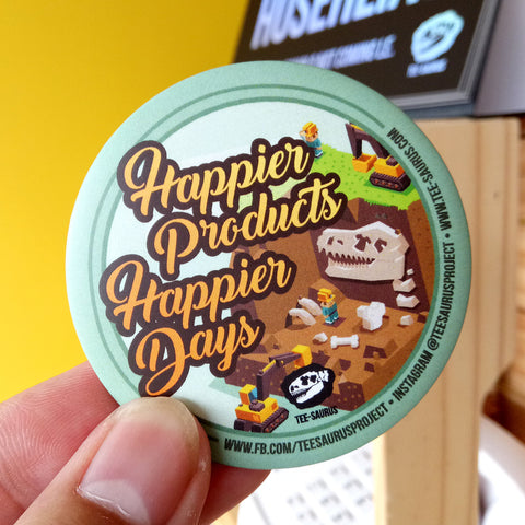 Tee-Saurus Happiness Badge