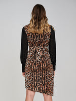 The AERO Asymmetric Leopard Print Dress Back View