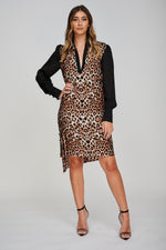 The AERO Asymmetric Leopard Print Dress No Belt