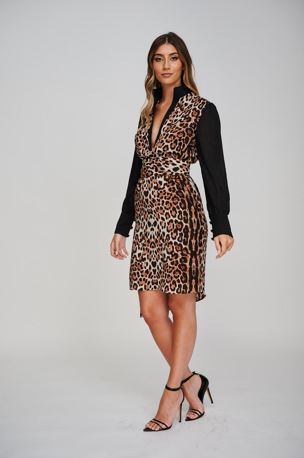 The AERO Asymmetric Leopard Print Dress
