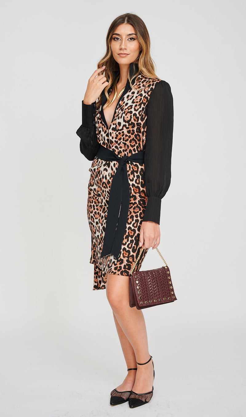 The AERO Asymmetric Leopard Print Dress How To Style