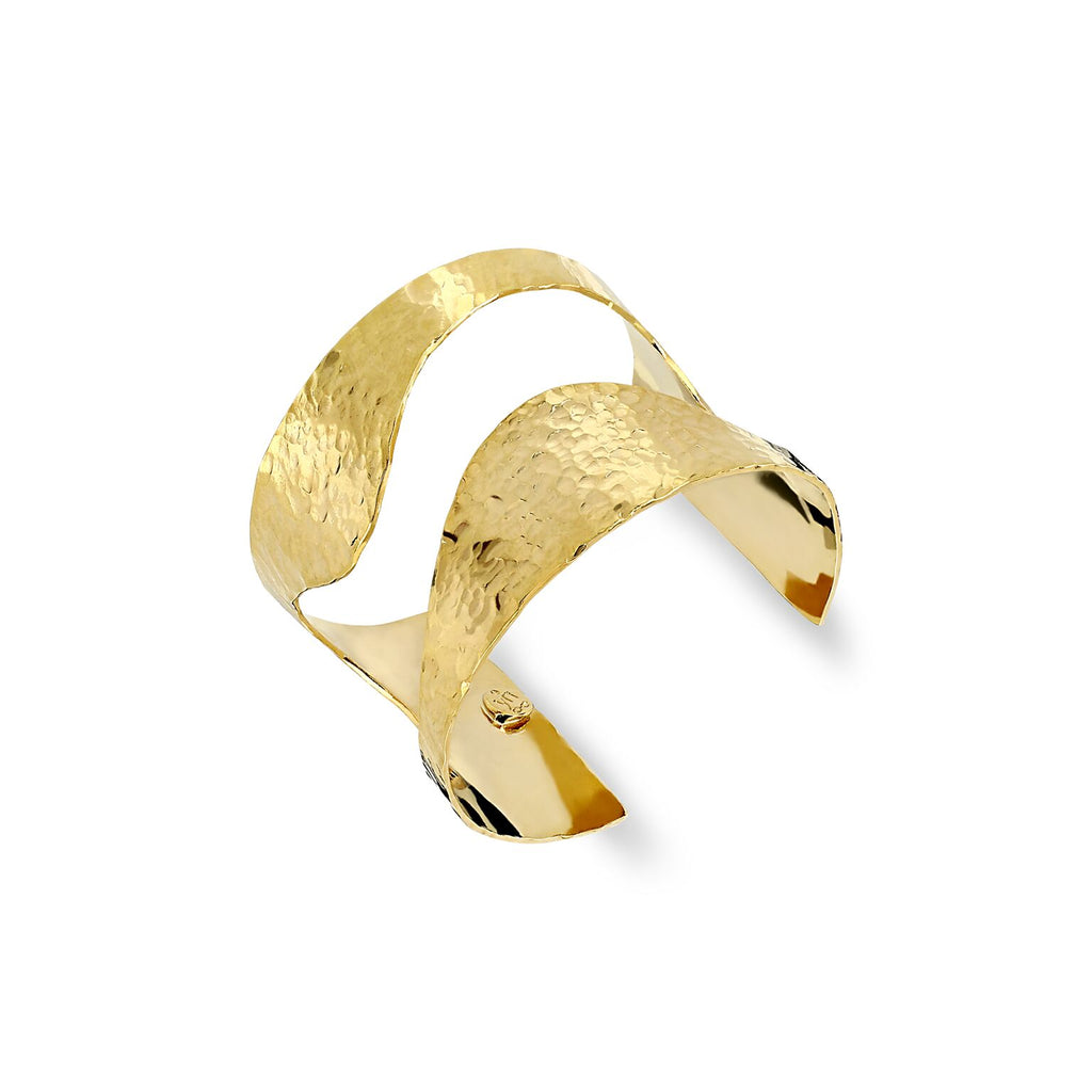 THE YAN NEO LONDON GOLD BELLONA HANDMADE CUFF BRACELET