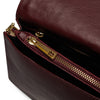 The Claret Kristi Embossed Weaved Leather Stud Bag Internal View