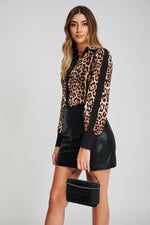 The ELPIS Leopard Print Fitted Shirt