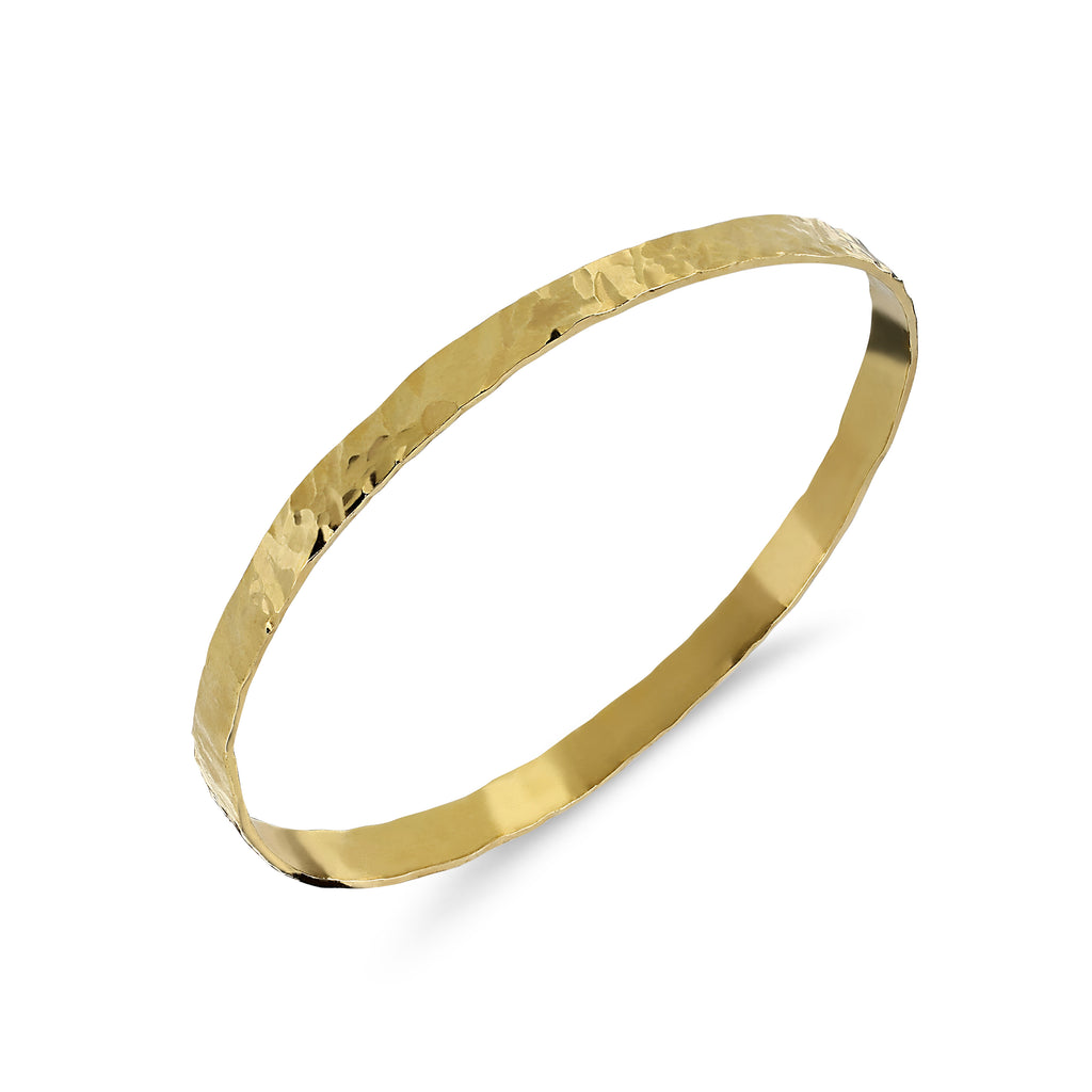 THE ENYO SINGLE GOLD HAMMERED YAN NEO BRACELET