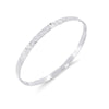 The Enyo Silver Hammered Metal Singlet Enyo Bracelet