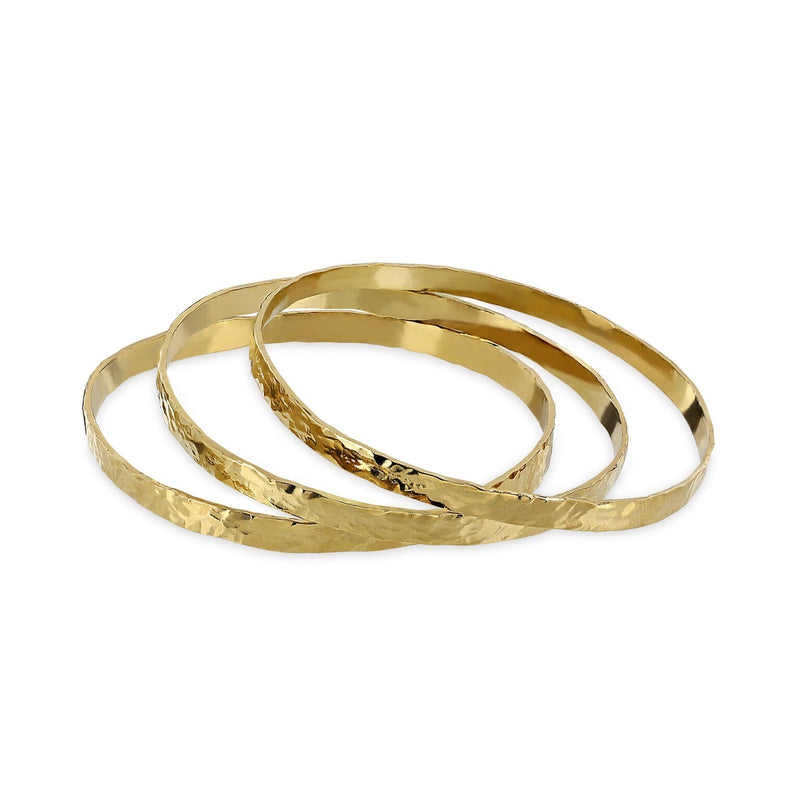 THE ENYO TRIO GOLD BRACELETS