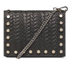 The Grey Kristi Embossed Weaved Leather Stud Bag 2