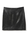 Hera Croc Black Mini Skirt Fabric