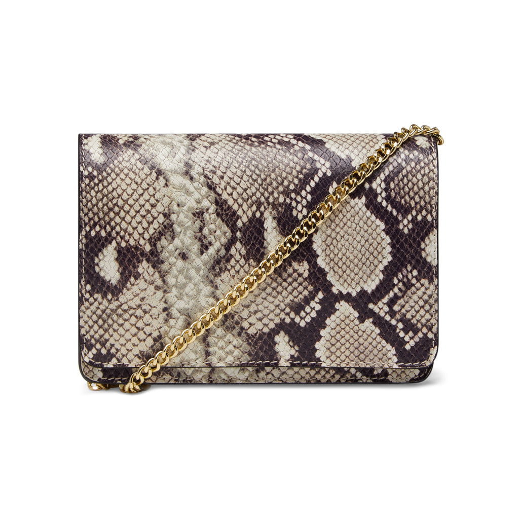 The Kali Snake Print Leather Bag Front