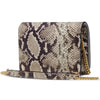 The Kali Snake Print Leather Bag Back