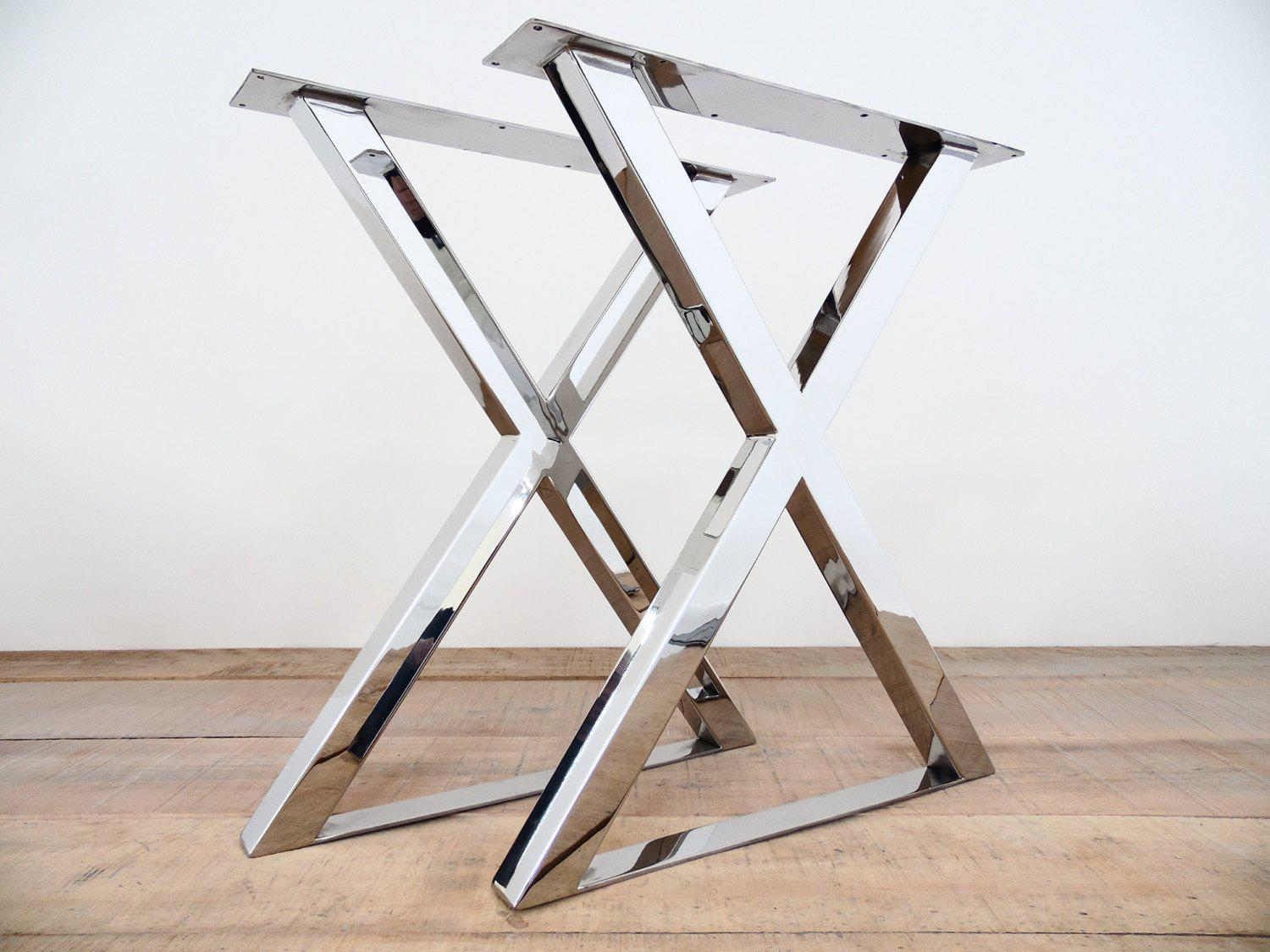 28 H X 20 W X Frame Table Legs Stainless Steel Height 26 To 30 Se