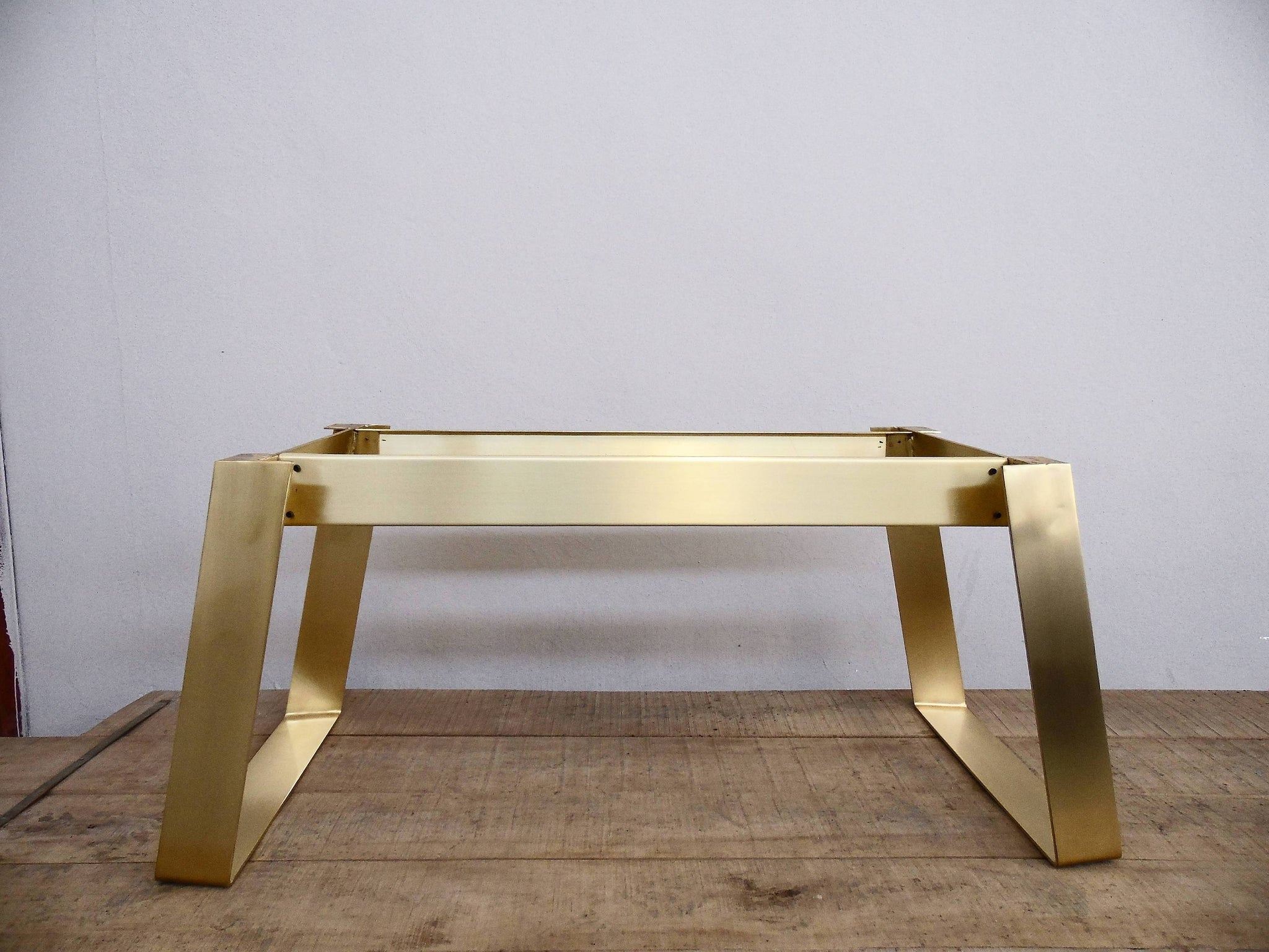 Flat Brass Modern Dining Table Bases Handcrafted Custom Balasagun - 28 wide dining table