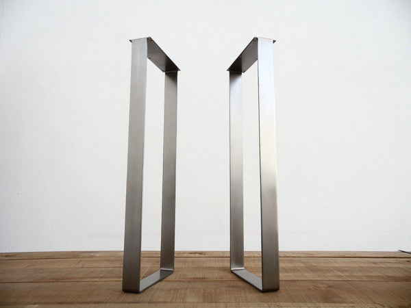 Flat Stainless Steel Bar Table Legs For Modern Living