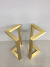 "28"" X 28"" Bracket  Brass Table Legs  Set ( 2)"