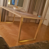 brass trapezoid table legs brushed brass
