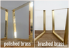 "28"" H x 35"" W x 26"" Ext. Brass Table Base Trestle Legs Height 26"" - 32"" Set(2)"