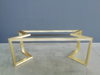 metal dining table base brass