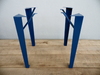 "28"" Angle Steel Table Legs with Braces, Height 26"" - 32"" Set(4)"