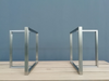 brushed stainless steel table legs metal