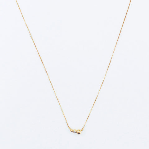 14K Gold-plated, Sterling Silver<br>Tiny Triple Dew Necklace