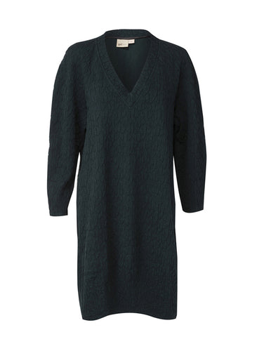 Raglan Jersey Dress - Midnight Green