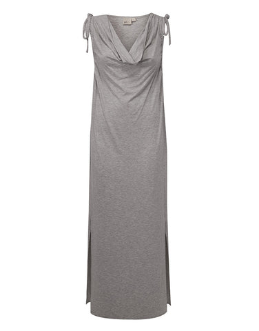 Cowl Maxi Dress - Gray