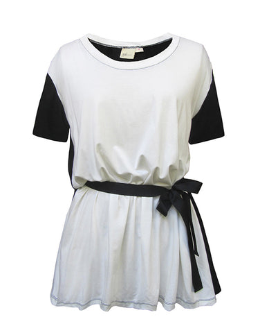 Big Tee Tunic Shirt - Black & White