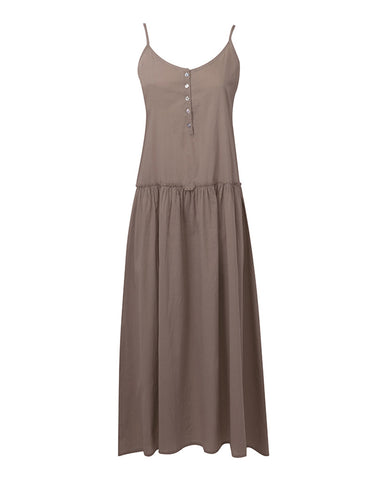 Jersey Maxi Cami Dress - Khaki