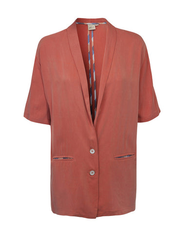Shawl Collar Blazer - Peach