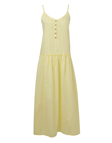 Jersey Maxi Cami Dress - Yellow