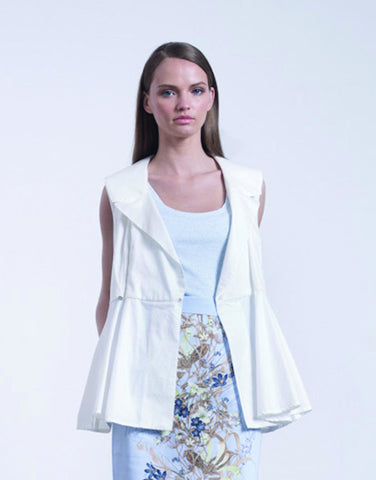 Gal Halfon summer collection white sleeveless blazer