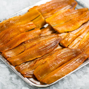 Boneless Kippers (minimum 6 fillets per 600g pack)