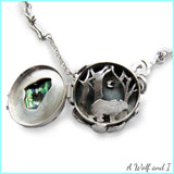 Paua Shell Bear Locket