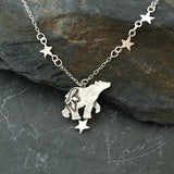 Star gazing wandering Bear Necklace
