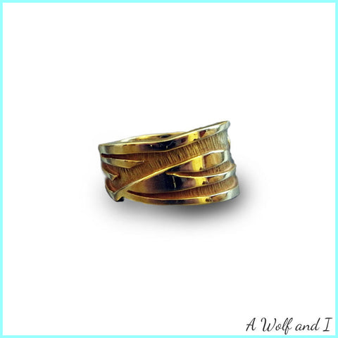 Gold 'Hot Rod' Inspired Ring