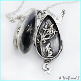 Hare locket pendant