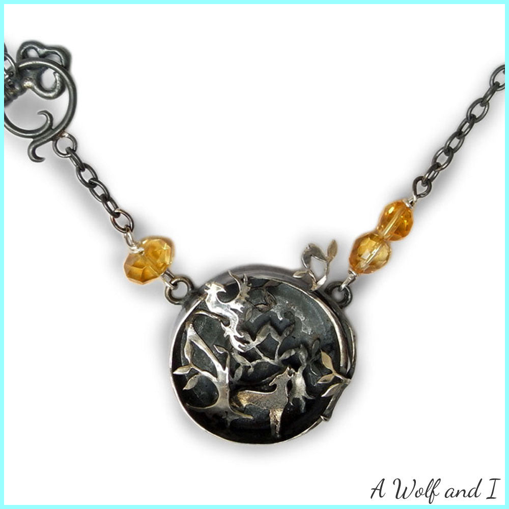 Sterling Silver Wild Woods Necklace