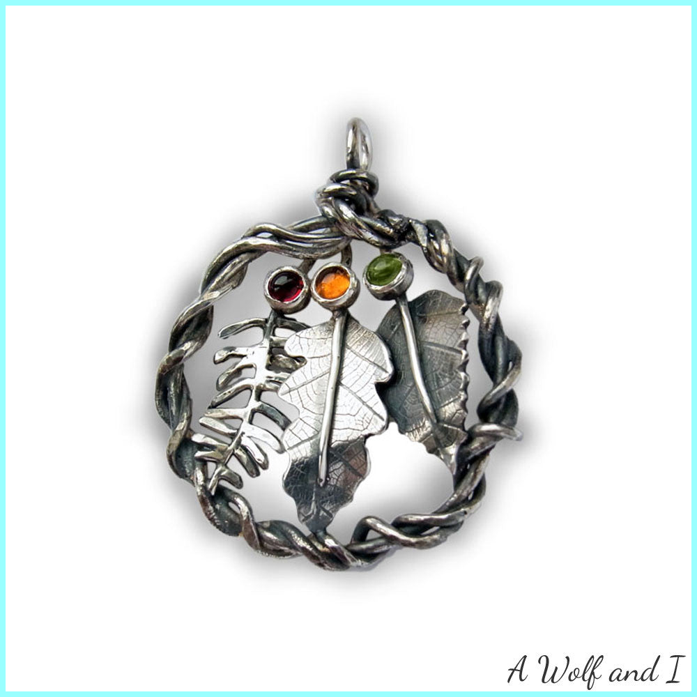 Sterling silver oak leaf pendant a wolf and i sterling silver oak leaf pendant aloadofball Choice Image