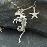 Seahorse necklace with starfish