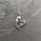 Seahorse love heart necklace - Pygmy Seahorses, love, heart, valentine