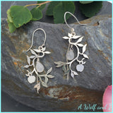 Sterling Silver Apple Tree Earrings with Moonstones