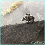 Sterling Silver Bear 'Eric' Pendant, Charm