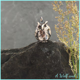 Sterling silver Owl Pendant, 'Frank' Owl Charm