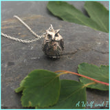 Sterling Silver 'Frank' Owl Necklace