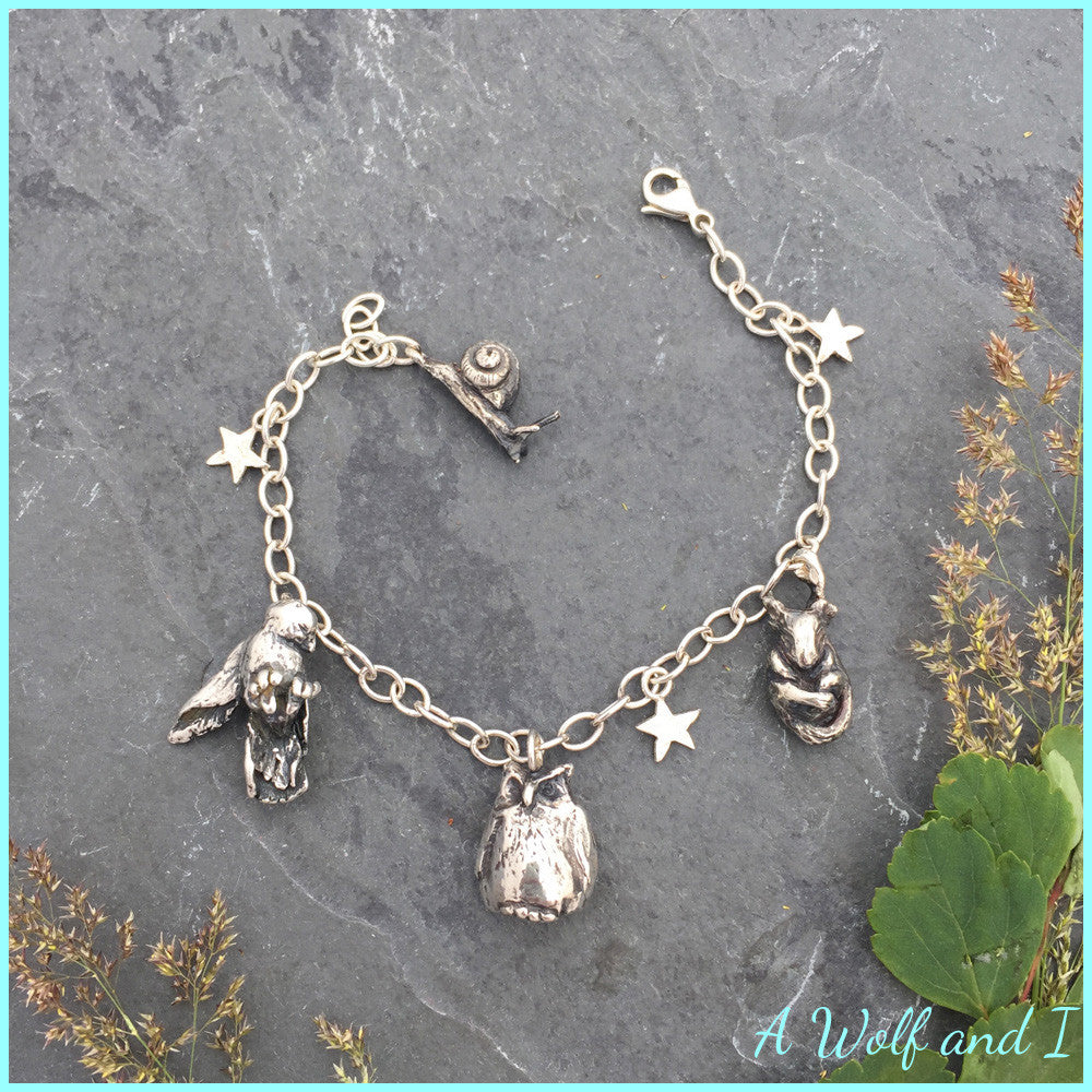 Sterling Silver 'Millie's Things' Charm Bracelet