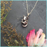 Sterling Silver 'Milo' Sleeping Dormouse Necklace